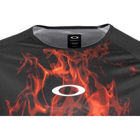 Oakley MTB LS Tech Tee Herr flames